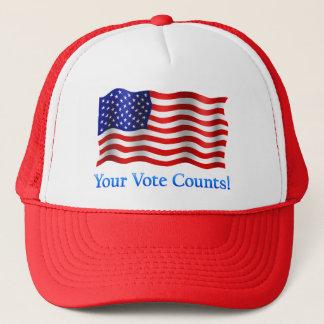 Your Vote Counts - Red Trucker Hat