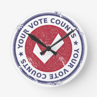 your vote counts round clock