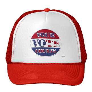 YOUR VOTE COUNTS! Round with US Flag Trucker Hat