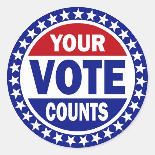 Your Vote Counts Stick...