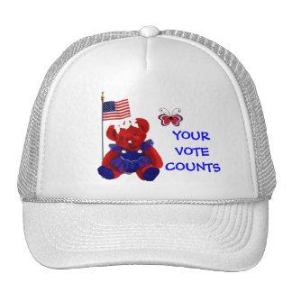 YOUR VOTE COUNTS TRUCKER HAT