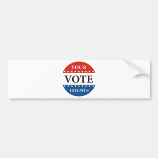 your vote counts usa 2012 president elections bumper sticker