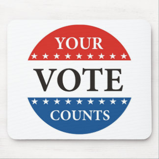 your vote counts usa 2012 president elections mouse pad