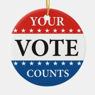 your vote counts usa president elections politics ceramic ornament