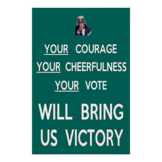 Your Vote Will Bring Us Victory Print
