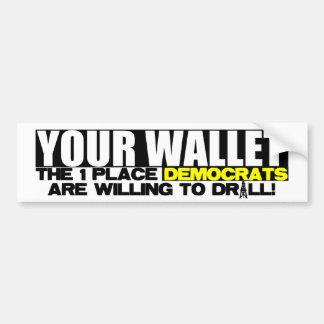 Your Wallet Car Bumper Sticker