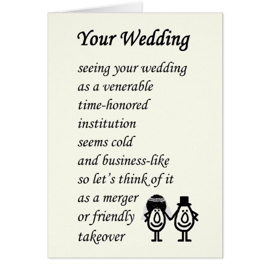 Your Wedding A Funny Poem