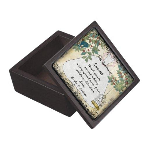 Your Wedding Bridesmaid Thank You Gift Premium Trinket Box