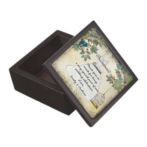Your Wedding Bridesmaid Thank You Gift Premium Keepsake Boxes
