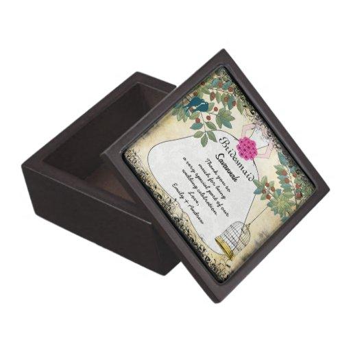 Your Wedding Bridesmaids Thank You Gift Premium Jewelry Boxes Zazzle