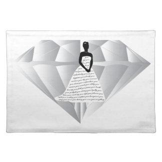 Your Wedding Diamond Cloth Placemat