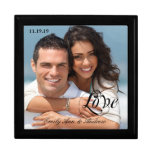 Your Wedding or Engagement Photo Anniversary Gift Jewelry Box
