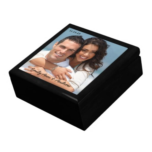Wedding Anniversary Gift Box : Your Wedding or Engagement Photo Anniversary Gift Gift Box Zazzle