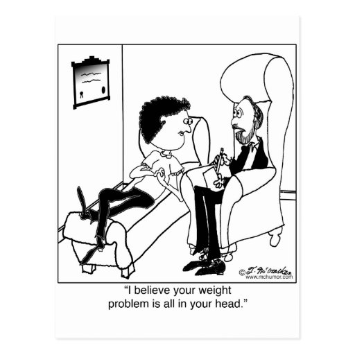 Your Weight Problem Is In Your Head Postcard