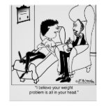 Your Weight Problem Is In Your Head Posters