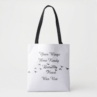 Your Wings My heart Tote Bag