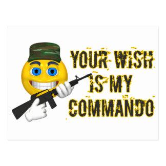 Your Wish Is My Commando Postcard