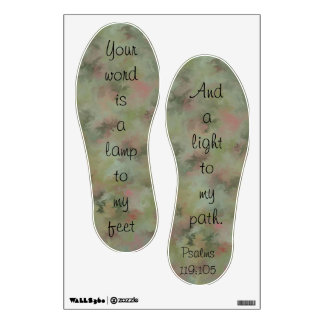 Your Word Is A Lamp Psalm Footprints Wall Decals