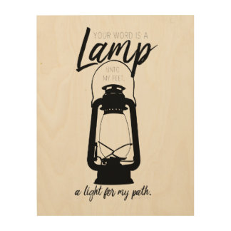Your Word is a Lamp wood wall art