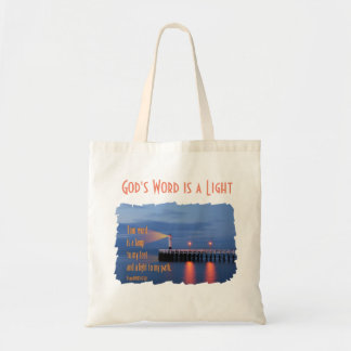 Your Word Is a Light Psalm 119:105 Bible Verse Canvas Bags