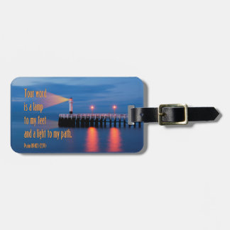 Your Word Is a Light Psalm 119:105 Bible Verse Travel Bag Tag