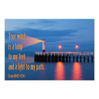 Your Word Is a Light Psalm 119:105 Bible Verse Photo Art