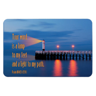 Your Word Is a Light Psalm 119:105 Bible Verse Rectangular Magnets
