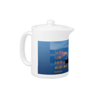 Your Word Is a Light Psalm 119:105 Bible Verse Teapot