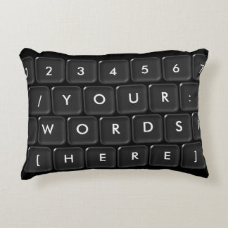 Your Words Here Keyboard Accent Pillow