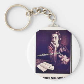 Your Work Will Save Lives Keychain