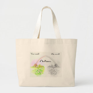 your world my world canvas bags