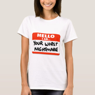 your worst nightmare T-shirts and creepers
