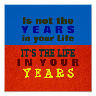 YOUR YEARS ~ Poster / Print