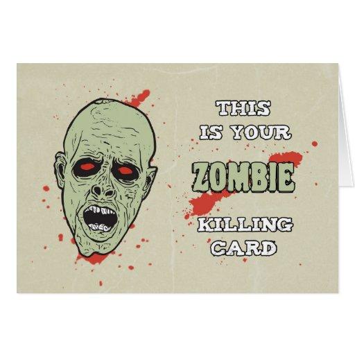 Your zombie killing card for birthday w zazzle