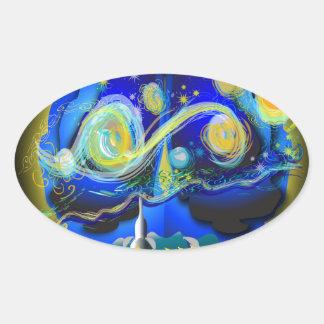 Youra Brain Oval Sticker
