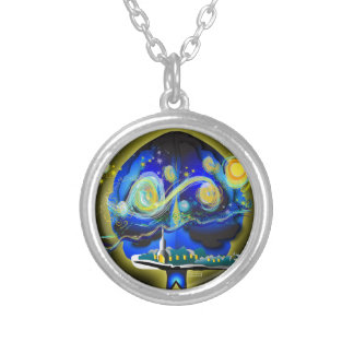 Youra Brain Silver Plated Necklace
