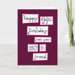 """You're 29 again? Fun Add-a-Name Birthday Greeting Card<br><div class=""""desc"""">We can dream can't we? See more funny cards to personalize at Zigglets here at Zazzle. There's a direct link below.</div>"""