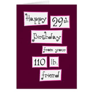 You're 29 again? Fun Add-a-Name Birthday Greeting Card