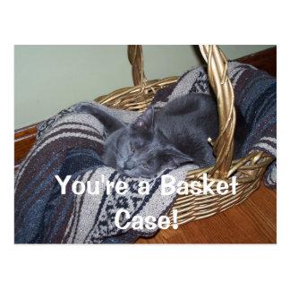 You're a Basket Case! Postcard