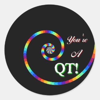 You're a cutie. classic round sticker