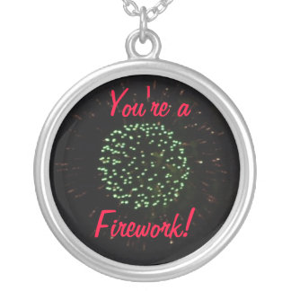 You're a Firework Silver Plated Necklace