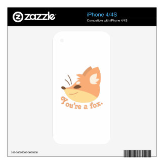 Youre A Fox Decal For The iPhone 4