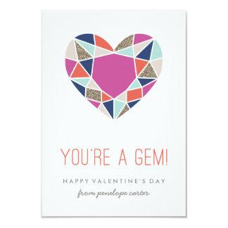 You're a Gem Classroom Valentine - Cobalt Card