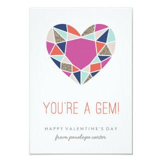 """You're a Gem Classroom Valentine - Cobalt 3.5"""" X 5"""" Invitation Card"""