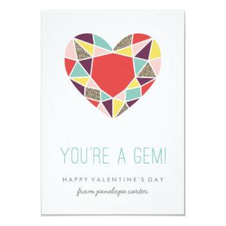 You're a Gem Classroom Valentine - Plum Card
