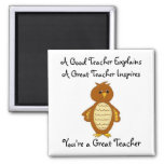 You're A Great Teacher 2 Inch Square Magnet