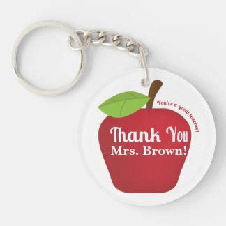You're a great teacher! Teacher appreciation apple Keychain
