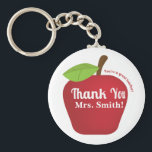 "You&#39;re a great teacher! Teacher appreciation apple Keychain<br><div class=""desc"">Show your appreciation to your teacher with this &quot;You&#39;re a great teacher! Thank You&quot; apple design. Personalise easily with your teacher&#39;s name in white text. Great for students who are graduating school to give to teachers as a small gift of appreciation.</div>"