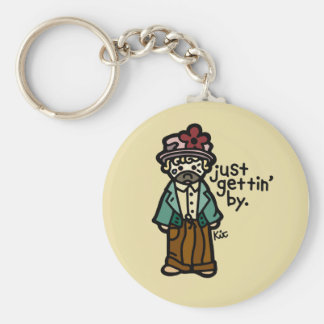you're a hobo, you don't have keys. basic round button keychain