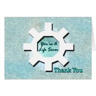 You're A Life Saver Thank You Card